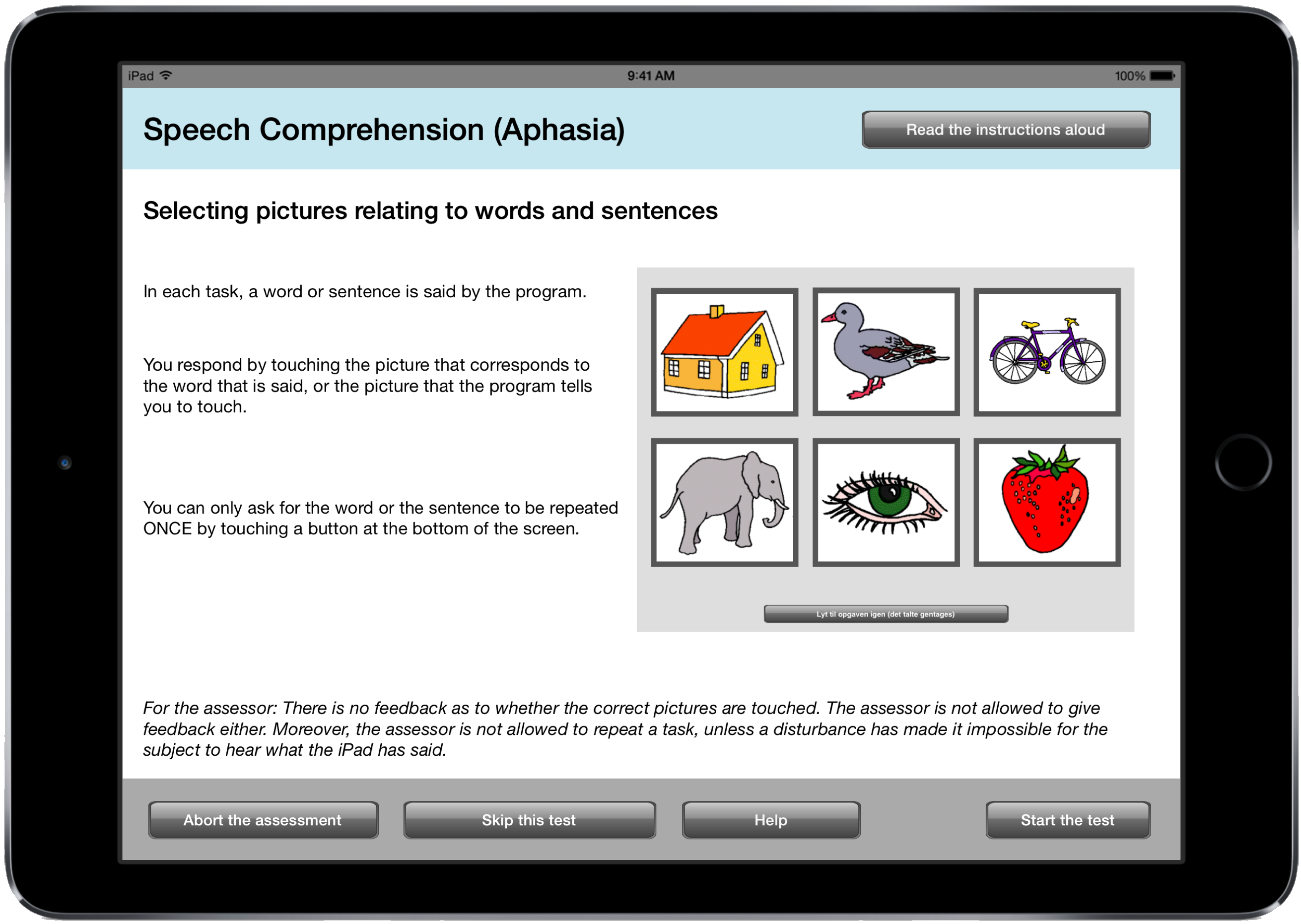 CABPad Comprehension Test